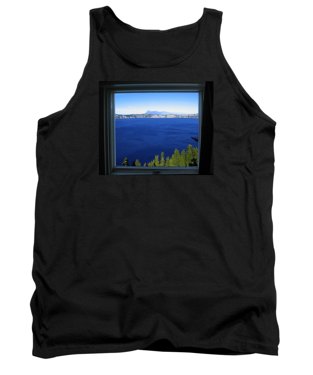 Crater Lake Tank Top featuring the photograph Crater Lake Through Our Window by Robert Woodward