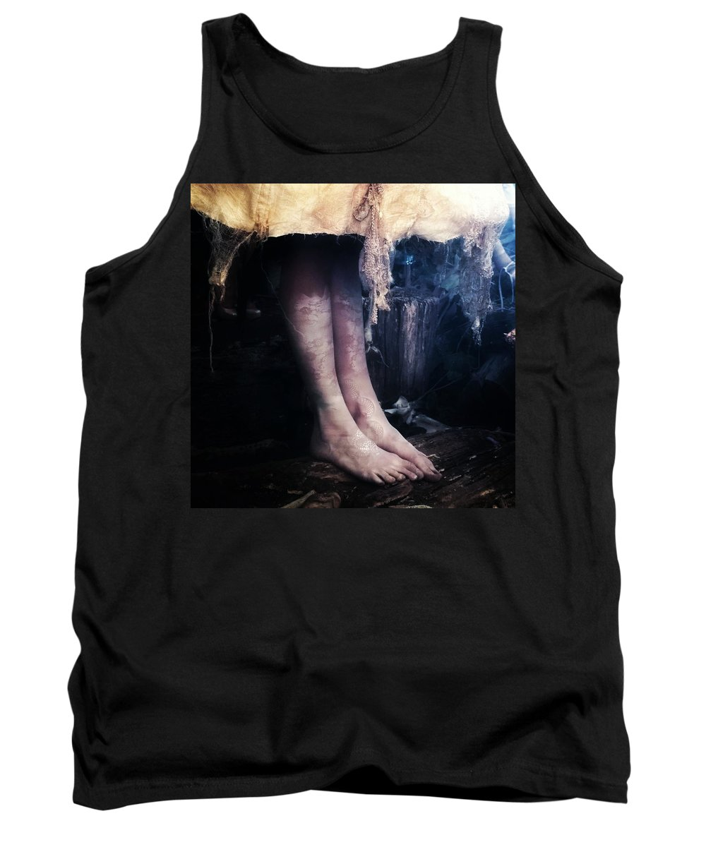 Legs Tank Top featuring the photograph Creature by Alexander Fedin