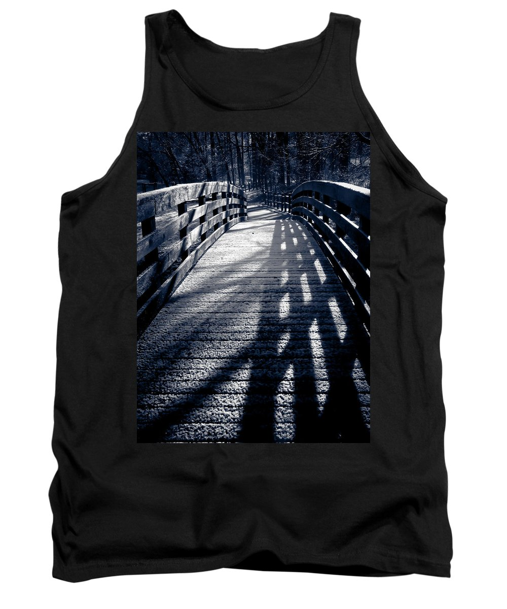 Bridge Tank Top featuring the photograph Crossing Over by Jessica Brawley