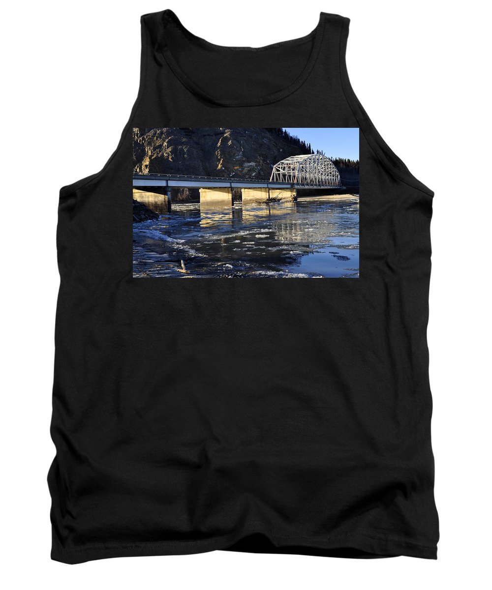Bridge Tank Top featuring the photograph Crossing The Tanana River by Cathy Mahnke