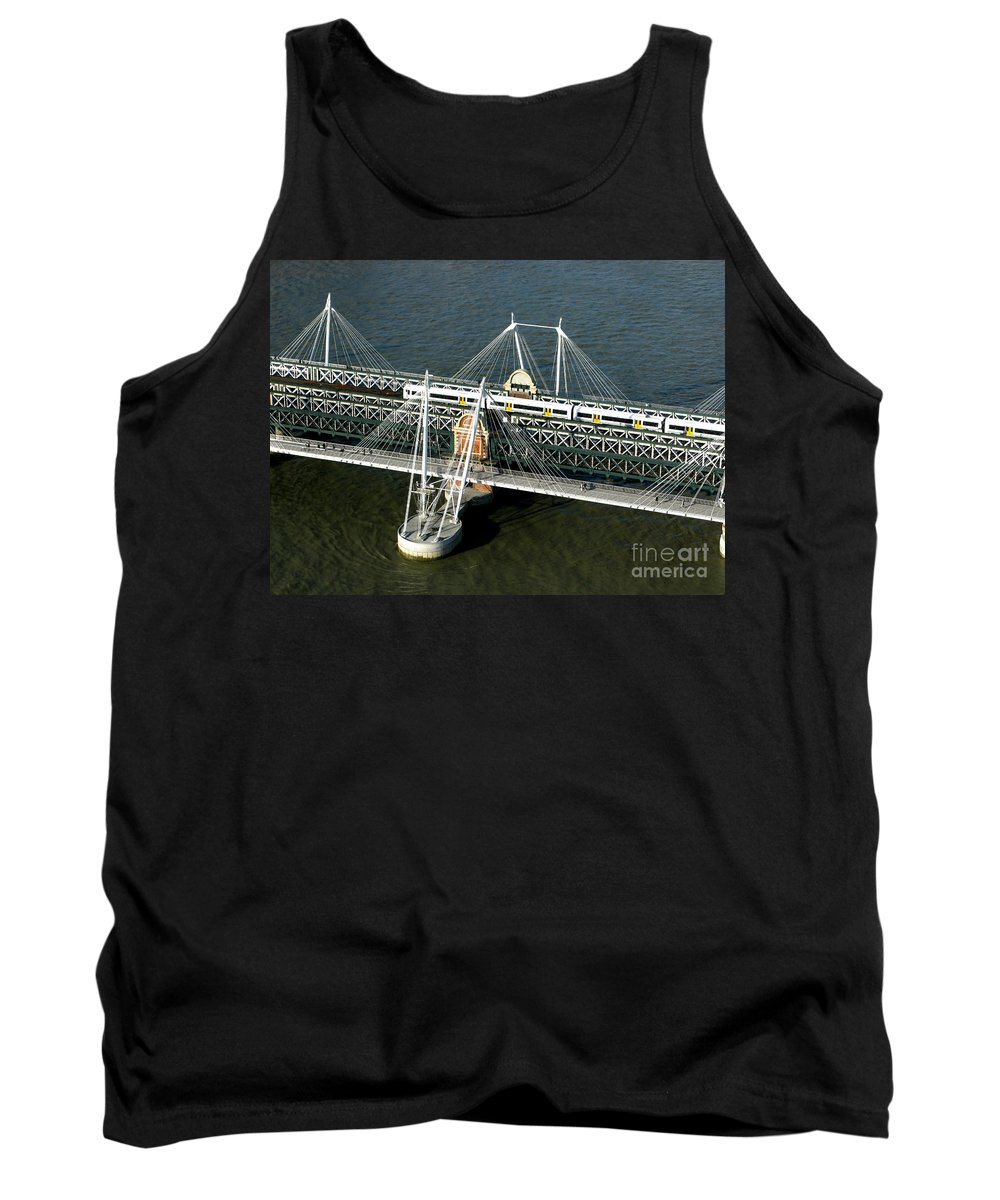 London Tank Top featuring the photograph Crossing The Thames by Ann Horn