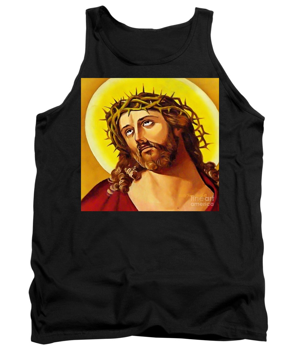 Jesus Tank Top featuring the photograph Crowned With Thorns by Patti Smith