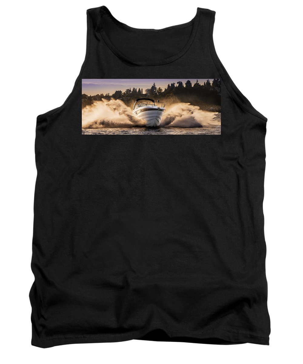 Crownline Boat Tank Top featuring the photograph Crownline Boat by Mike Penney