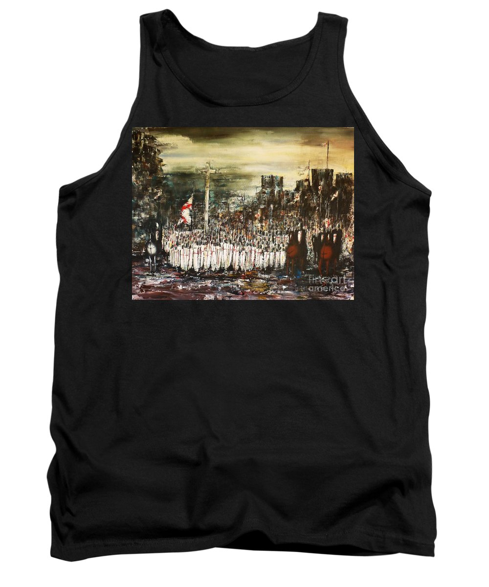 Crusade Tank Top featuring the painting Crusade by Kaye Miller-Dewing