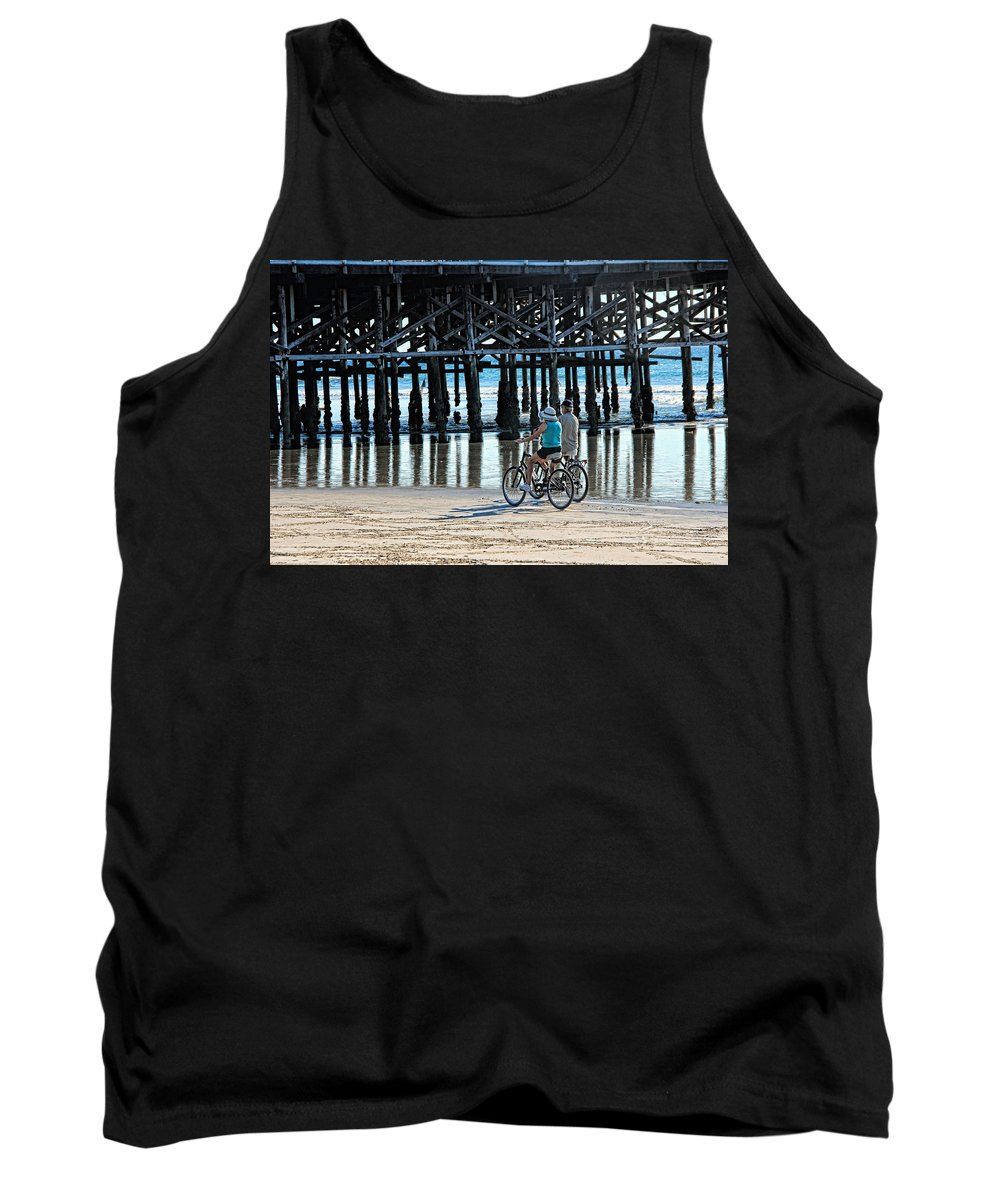 Beach Tank Top featuring the photograph Crusin The Beach by Tammy Espino