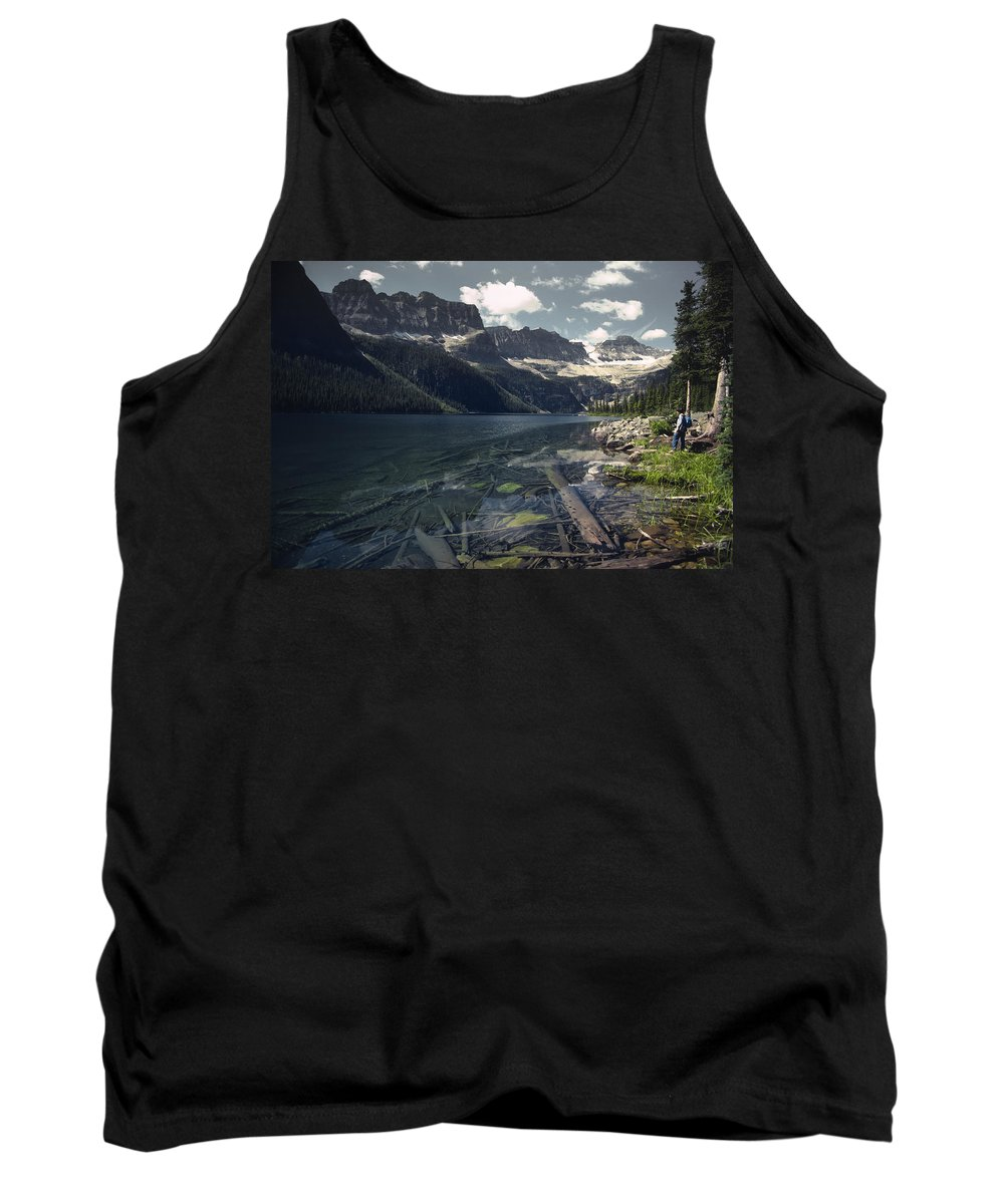 Agriculture Tank Top featuring the photograph Crystal Clear Mountain Lake by Roderick Bley