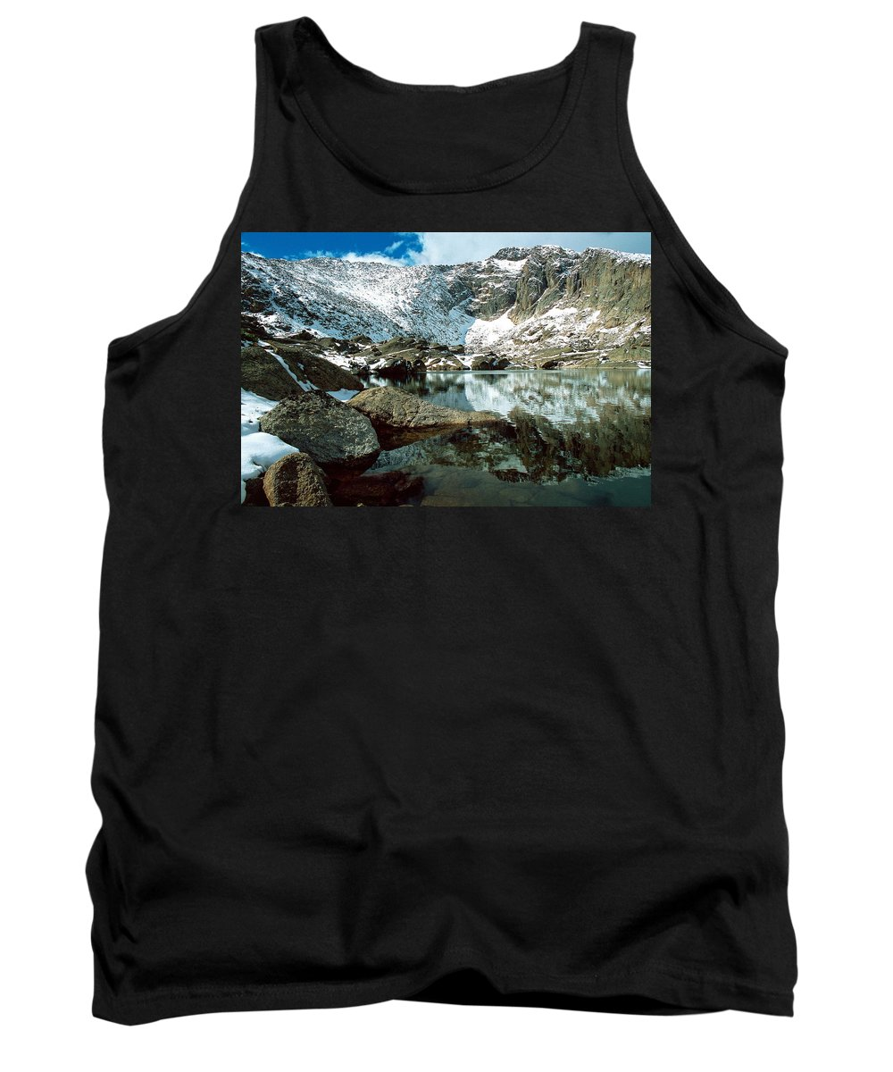 Landscape Tank Top featuring the photograph Crystal Lake by Eric Glaser