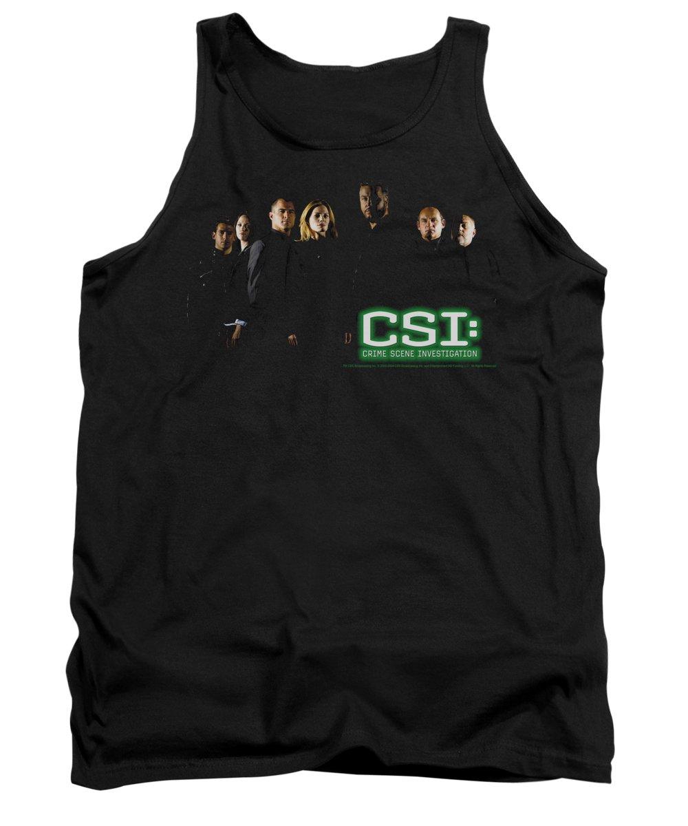 CSI Tank Top featuring the digital art Csi - Shadow Cast by Brand A