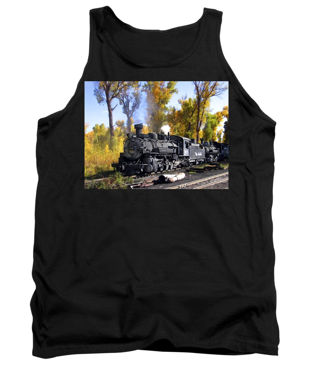 Train Tank Top featuring the photograph Cumbres And Toltec Railroad by Kurt Van Wagner