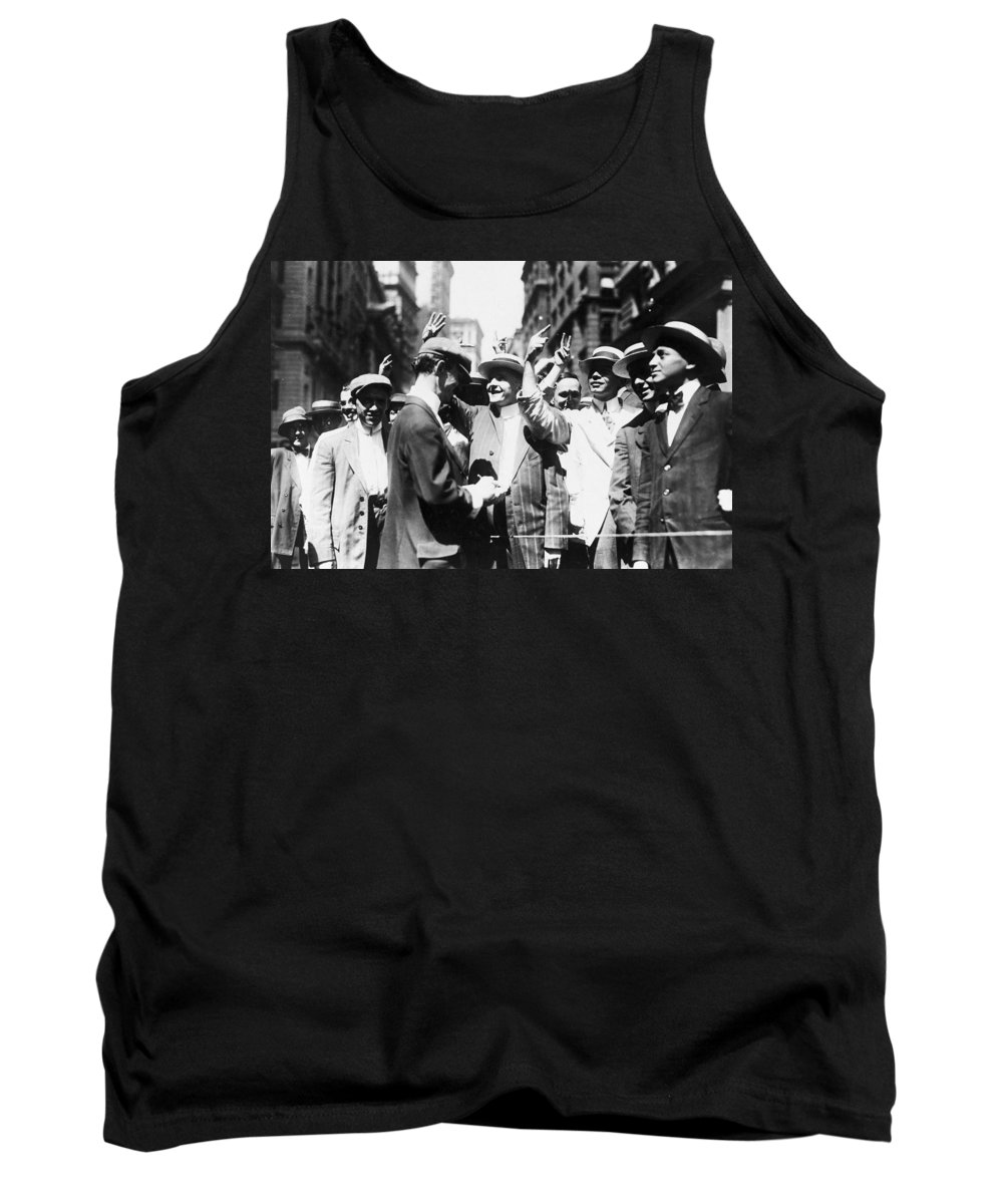1916 Tank Top featuring the photograph Curb Stock Brokers, C1916 by Granger