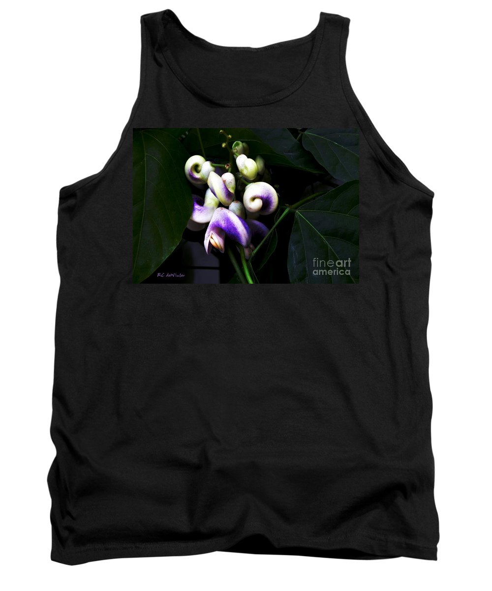 Snail Vine Tank Top featuring the photograph Curlicues by RC DeWinter