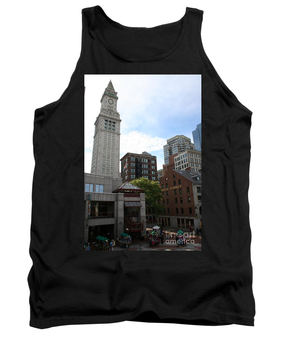 Boston Tank Top featuring the photograph Custom House - Boston by Christiane Schulze Art And Photography