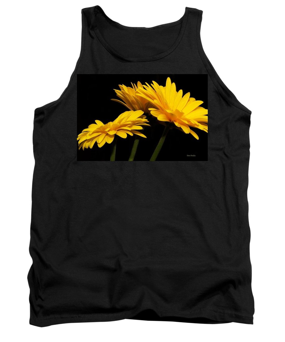 Daisy Flowers Macro Tank Top featuring the photograph Daisies by Diane Hawkins