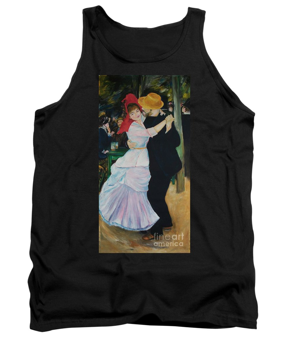 Impressionism Tank Top featuring the painting Dance At Bougival Renoir by Eric Schiabor