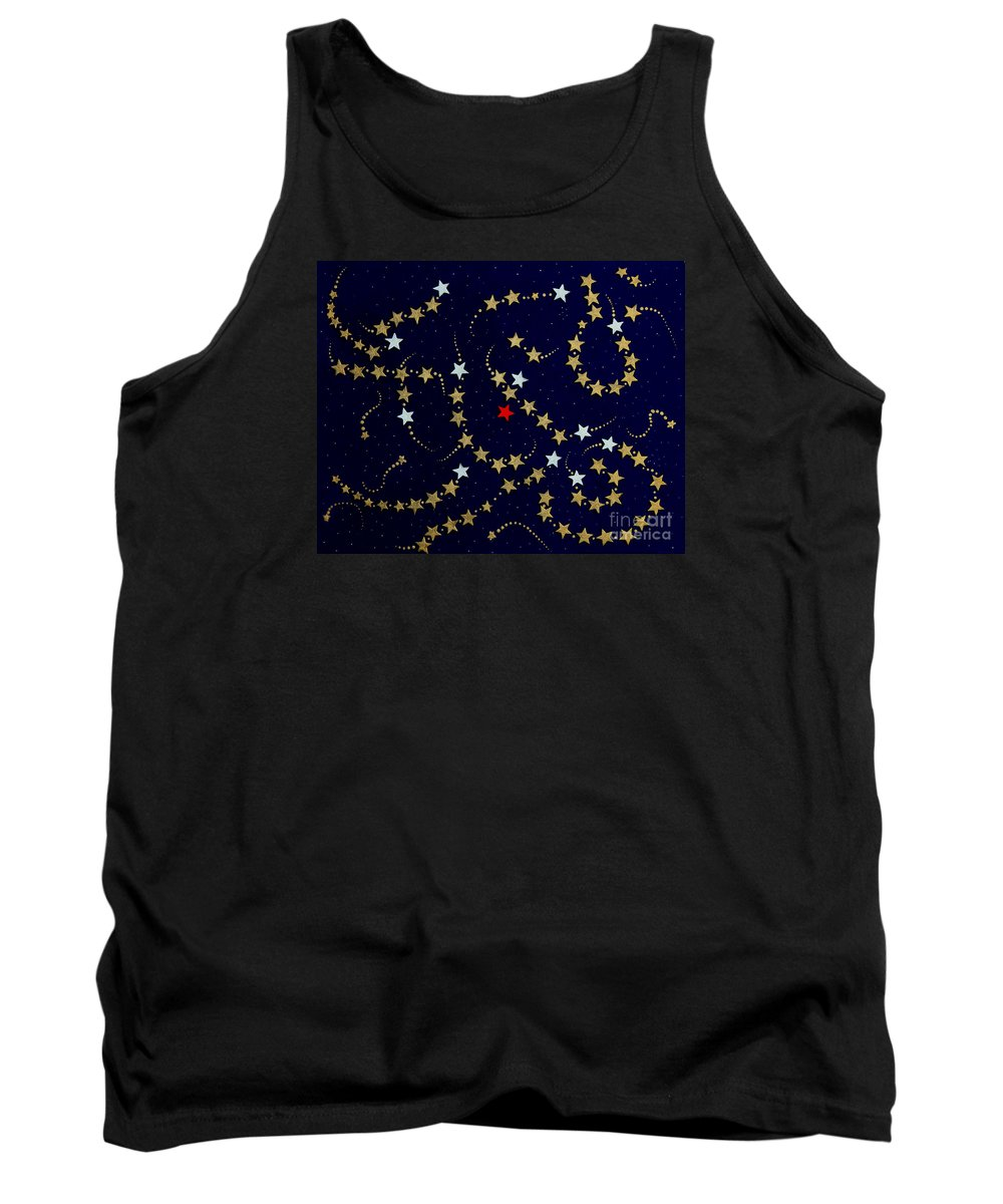 Barbara Griffin Tank Top featuring the painting Dare To Be Different - Stars - Blazing Trails by Barbara Griffin