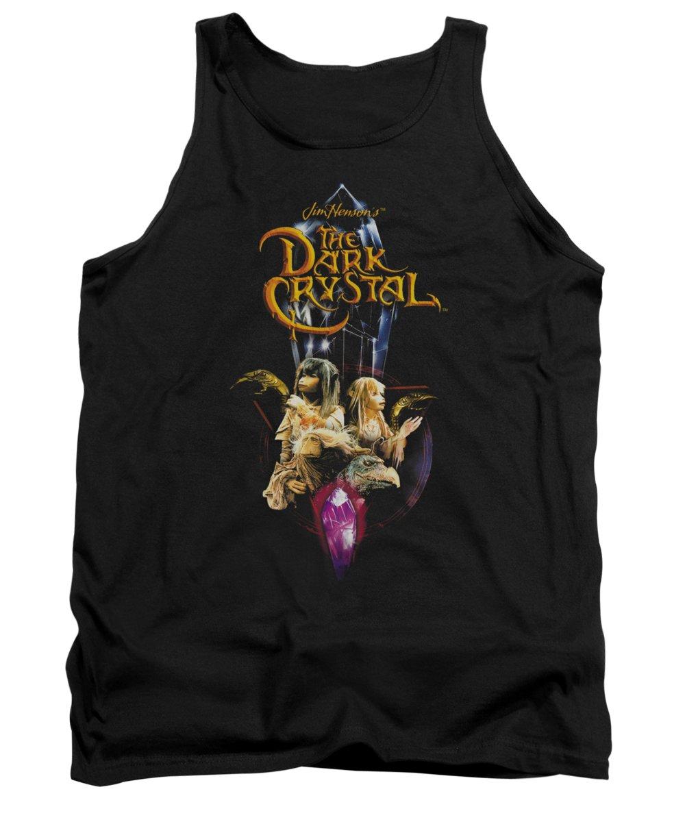 Dark Crystal Tank Top featuring the digital art Dark Crystal - Crystal Quest by Brand A