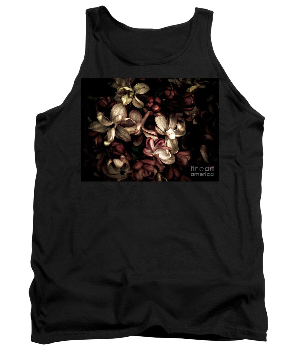 Flower Tank Top featuring the photograph Dark Flowers by Brothers Beerens
