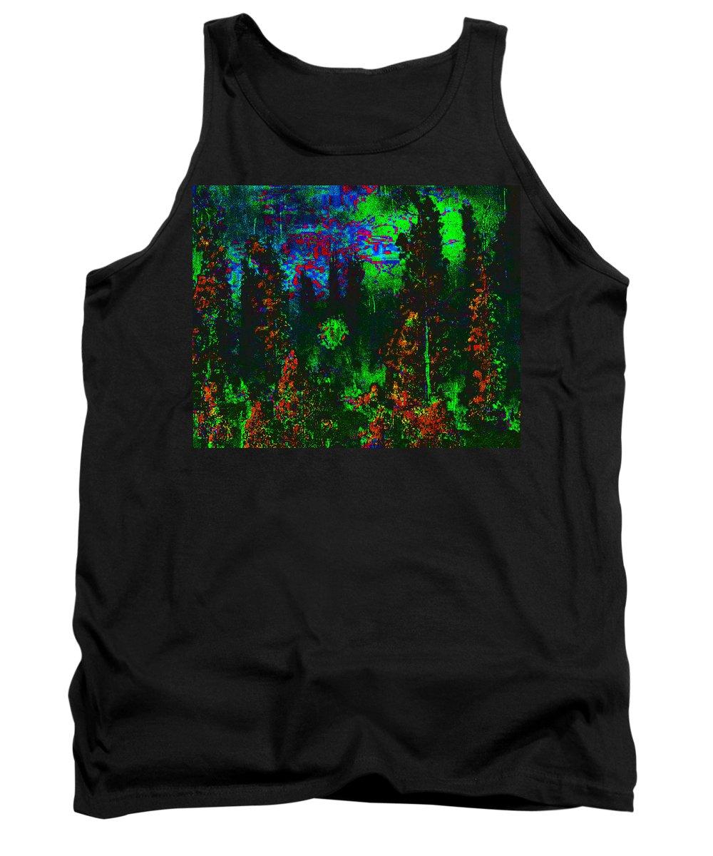 Abstract Tank Top featuring the digital art Dark Garden by Jack Bowman