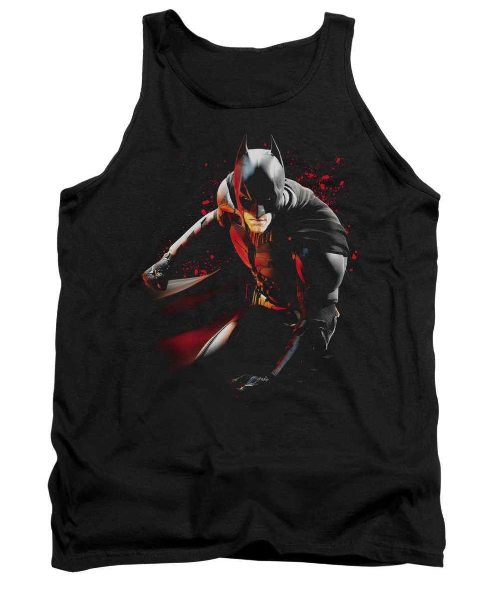 Dark Knight Rises Tank Top featuring the digital art Dark Knight Rises - Ready To Punch by Brand A