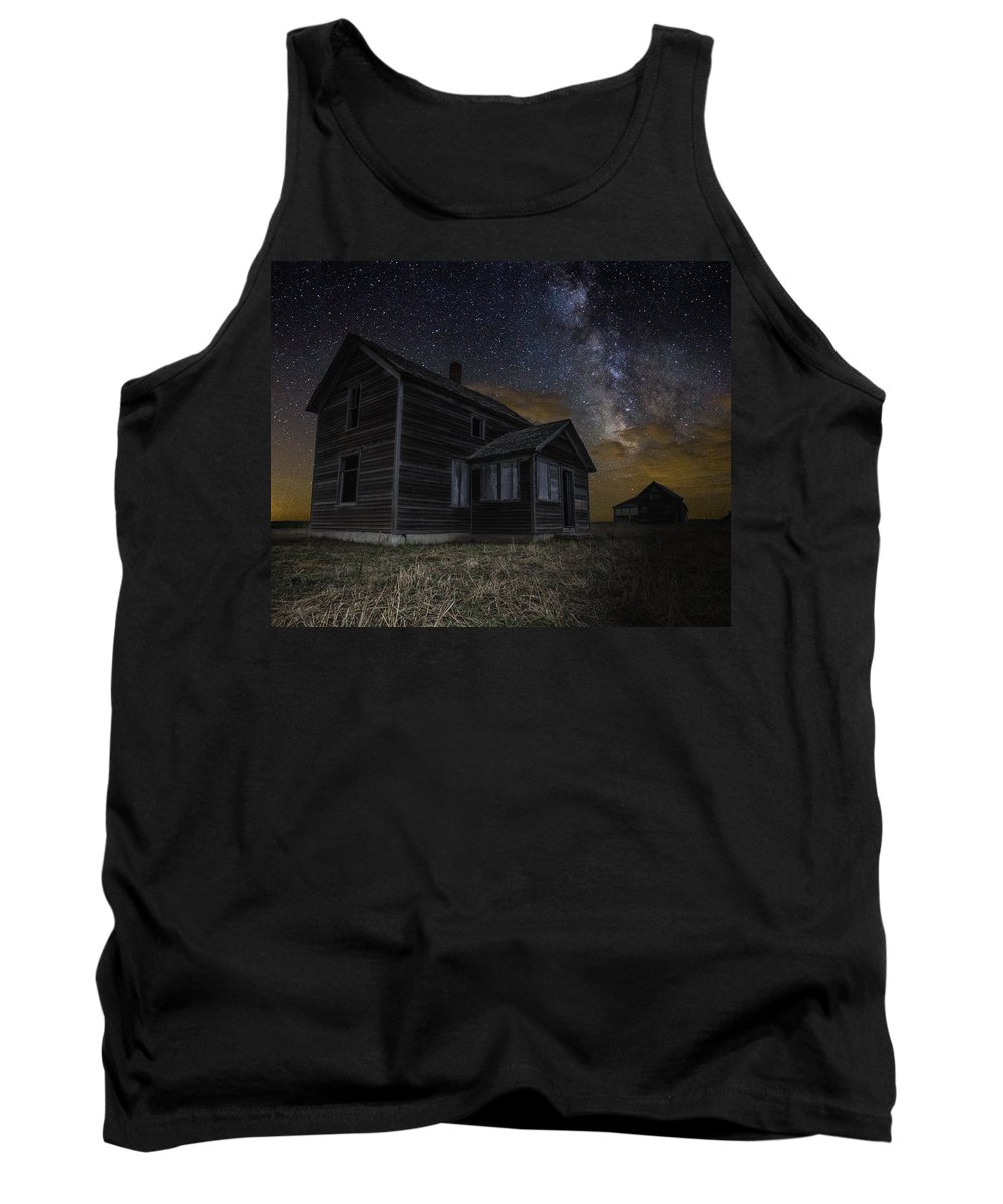 Milkyway Tank Top featuring the photograph Dark Place by Aaron J Groen