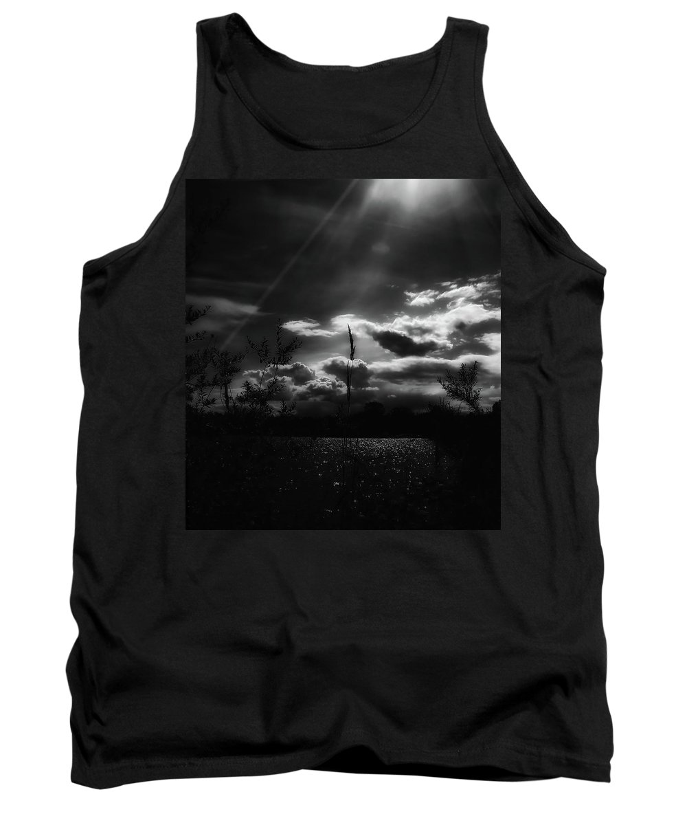 Morning Tank Top featuring the photograph Darkest Before The Dawn by Donna Blackhall