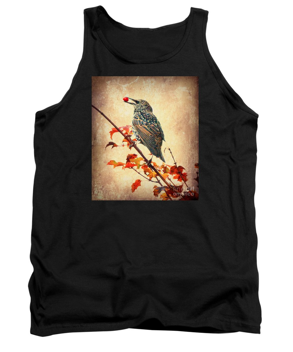 Starling Tank Top featuring the photograph Darling Starling by Kerri Farley