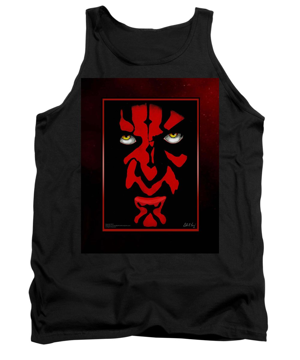 Star Wars Tank Top featuring the painting Darth Maul by Dale Loos Jr