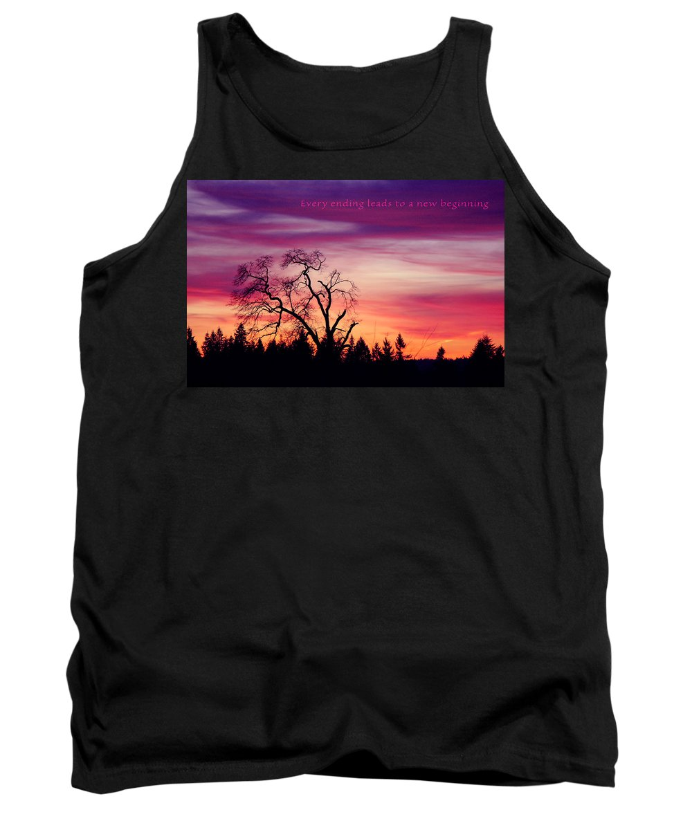 Landscape Tank Top featuring the photograph Day's End by Rory Sagner