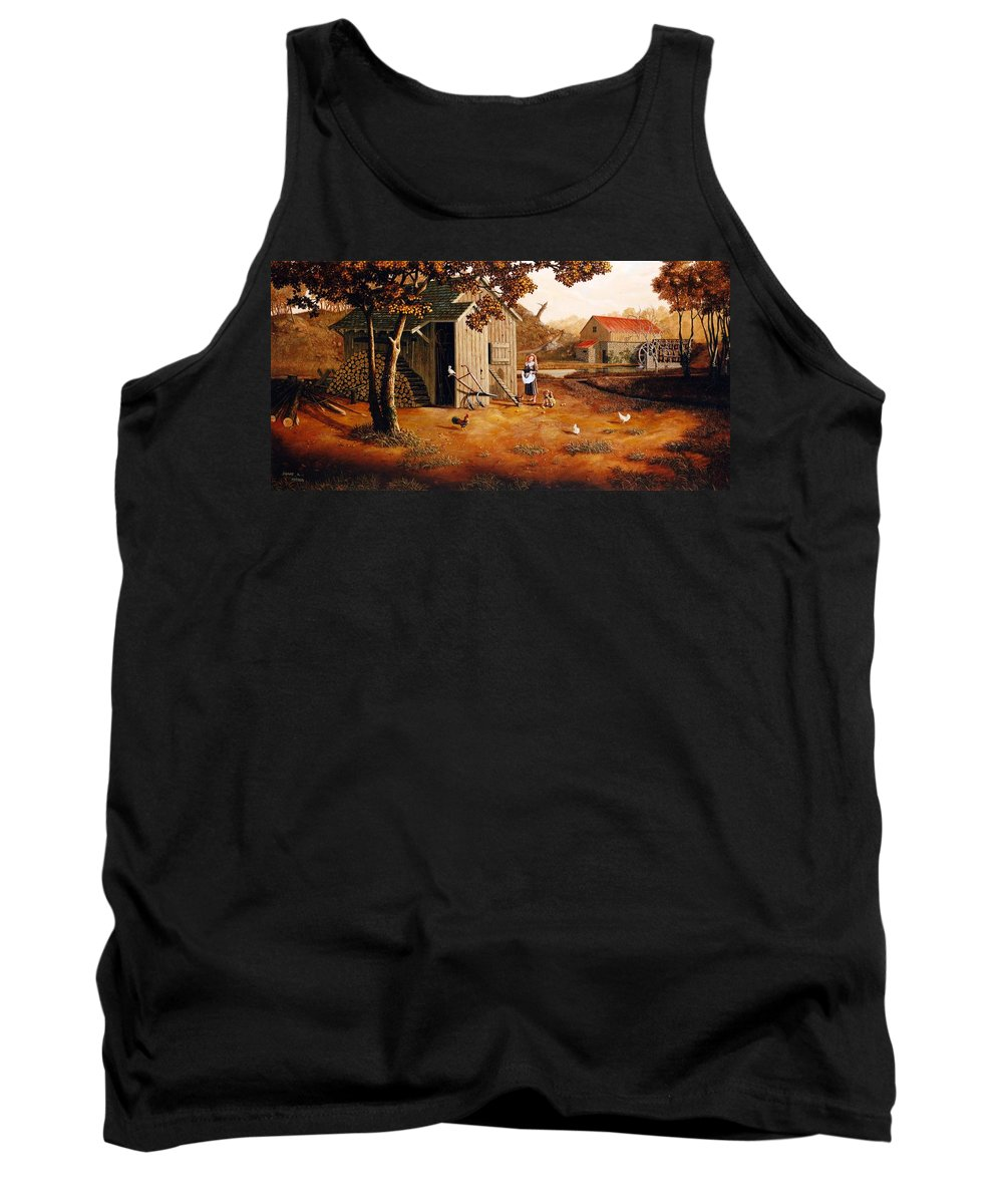 Farm Tank Top featuring the painting Days Of Discovery by Duane R Probus