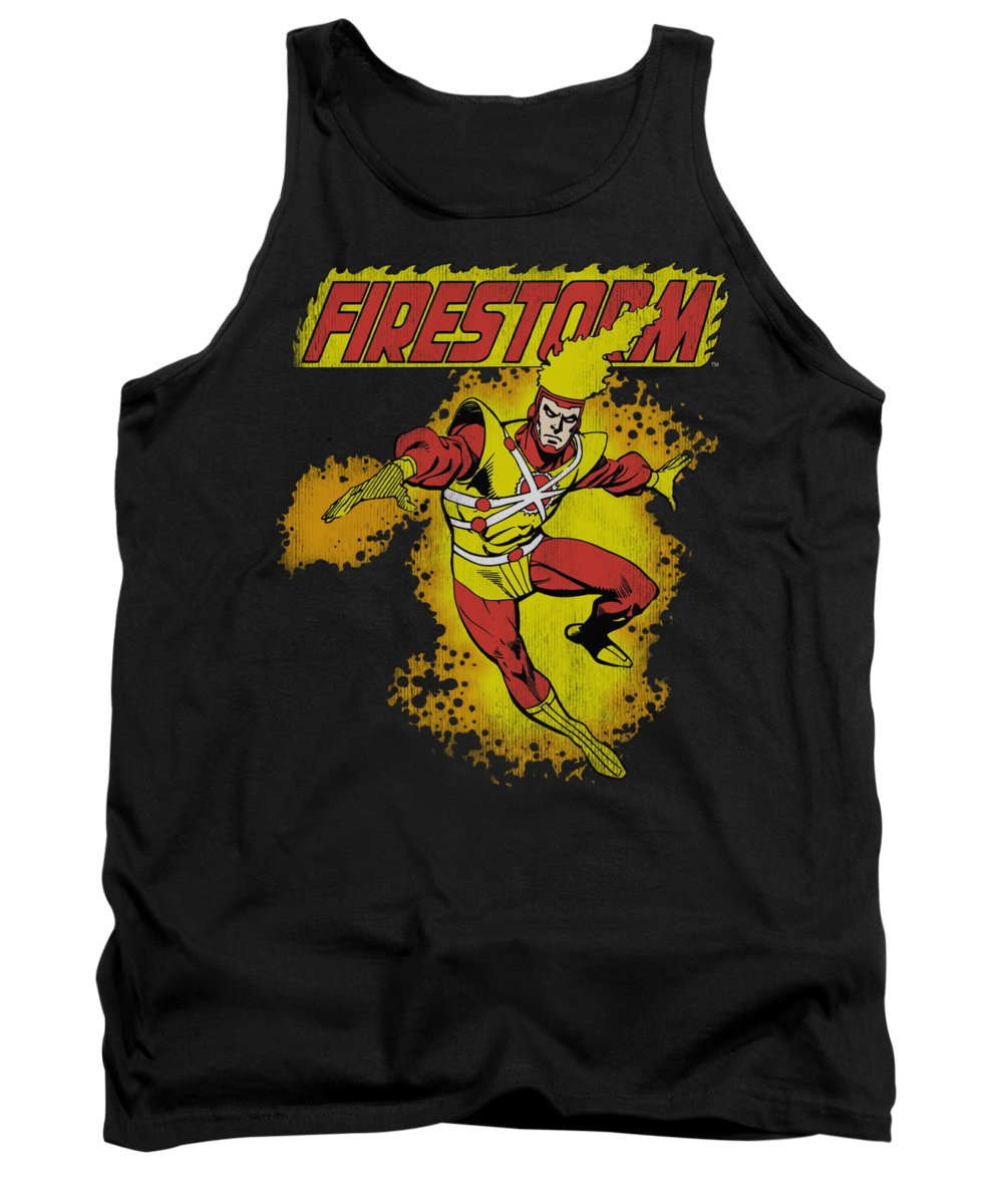 Dc Comics Tank Top featuring the digital art Dc - Firestorm by Brand A