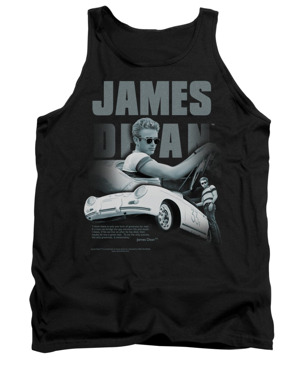 James Dean Tank Top featuring the digital art Dean - Immortality Quote by Brand A