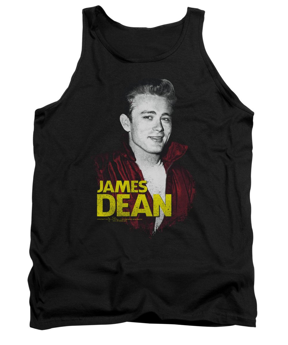 James Dean Tank Top featuring the digital art Dean - Red Jacket by Brand A
