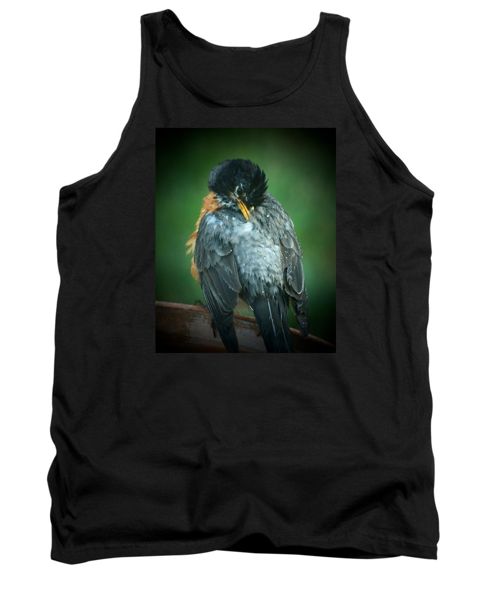 Robin Tank Top featuring the photograph Deep Cleaning by Susan McMenamin
