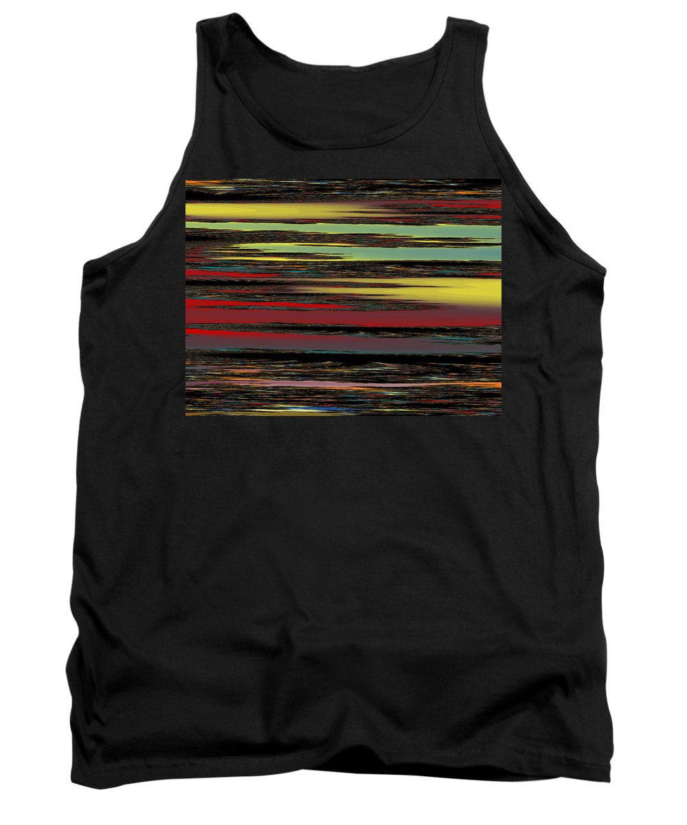 Fractal Tank Top featuring the digital art Deep Color Field by Mark Greenberg