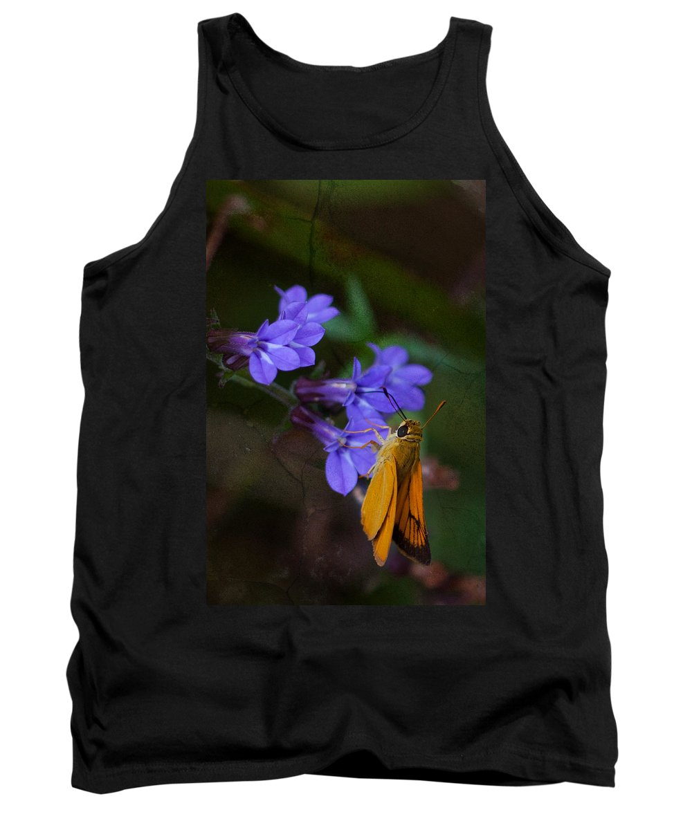 Delaware Skipper Tank Top featuring the photograph Delaware Skipper Butterfly by Melinda Fawver