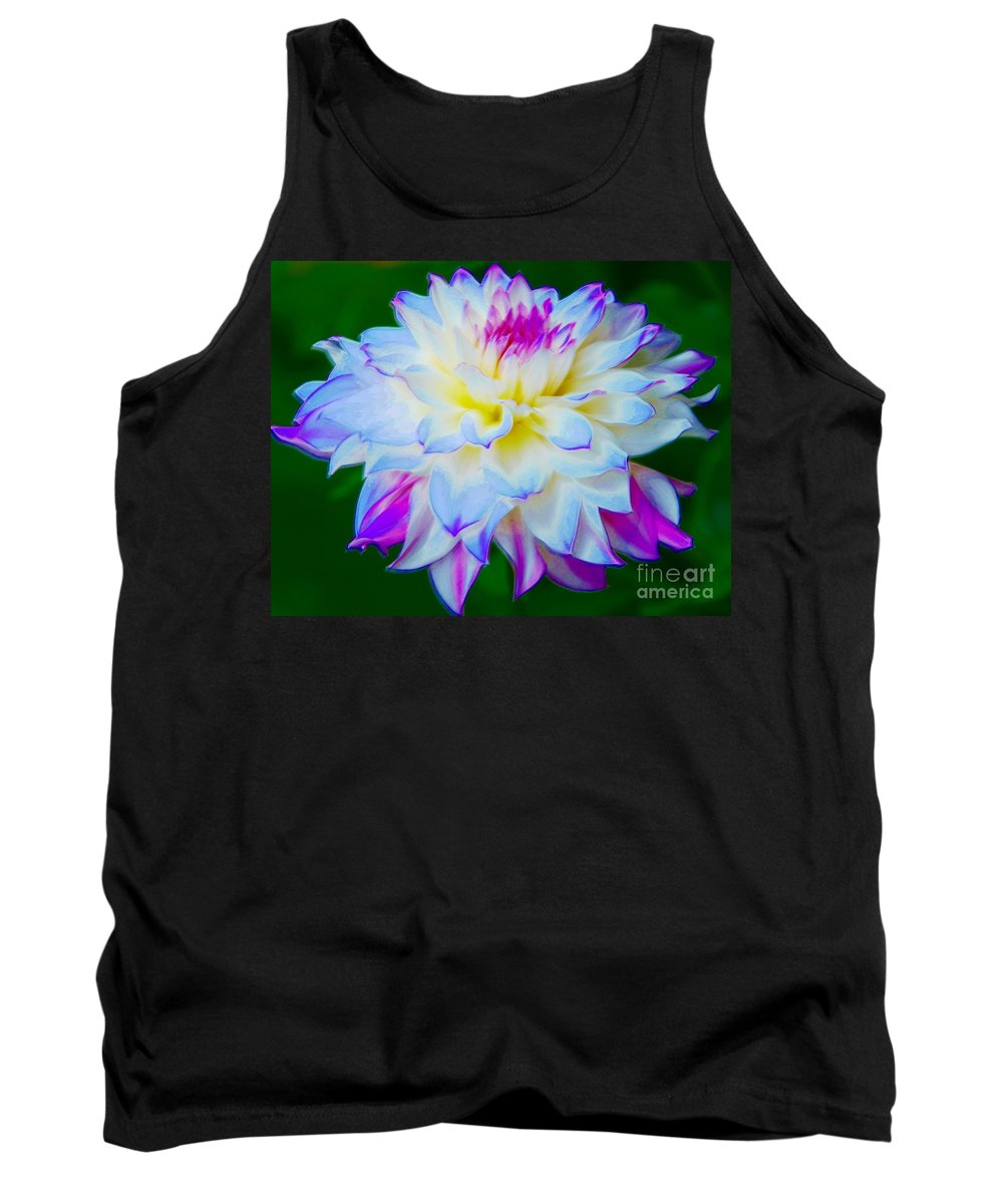 Dahlia Tank Top featuring the photograph Delightful Dahlia by Kathleen Struckle