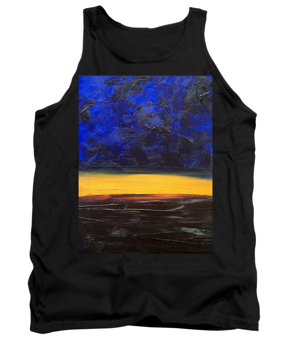 Landscape Tank Top featuring the painting Desert Plains by Sergey Bezhinets