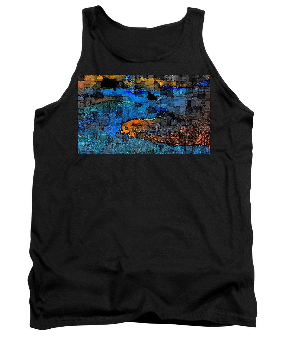 Abstract Tank Top featuring the digital art Desperation by Jack Bowman