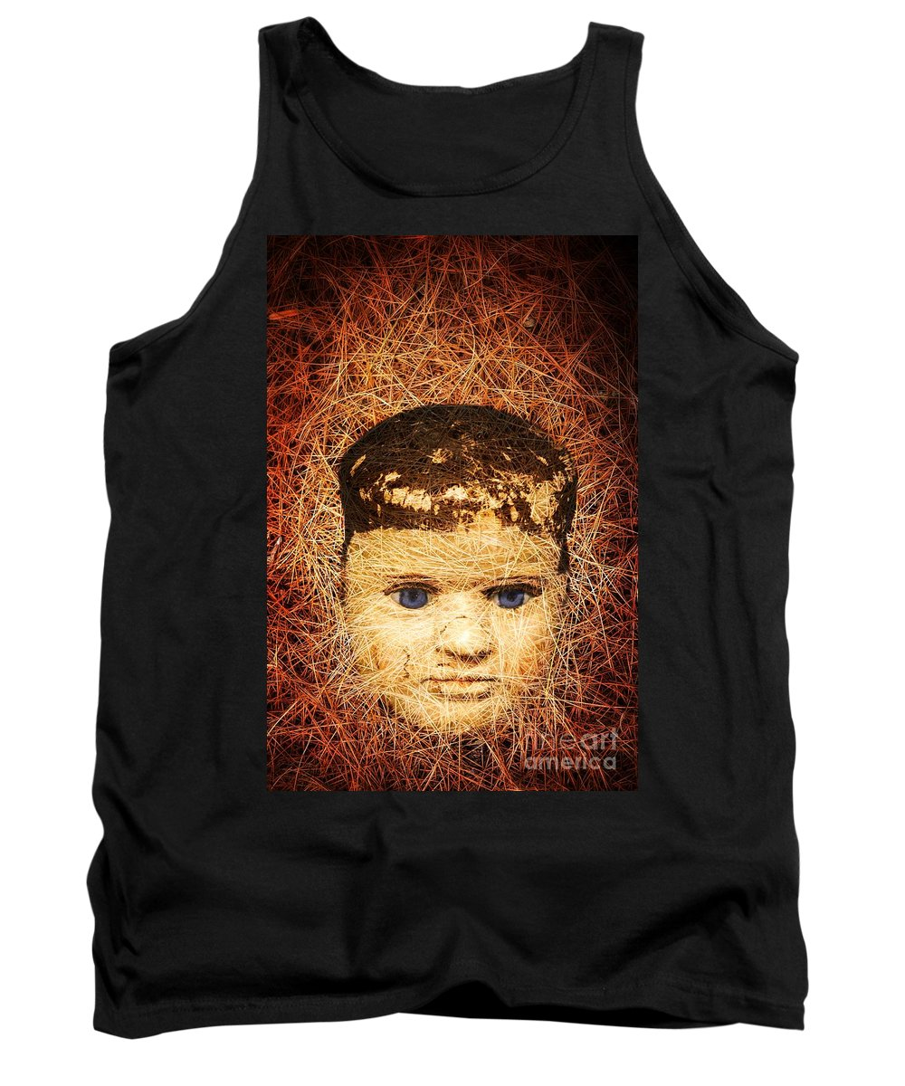 Scary Tank Top featuring the photograph Devil Child by Edward Fielding