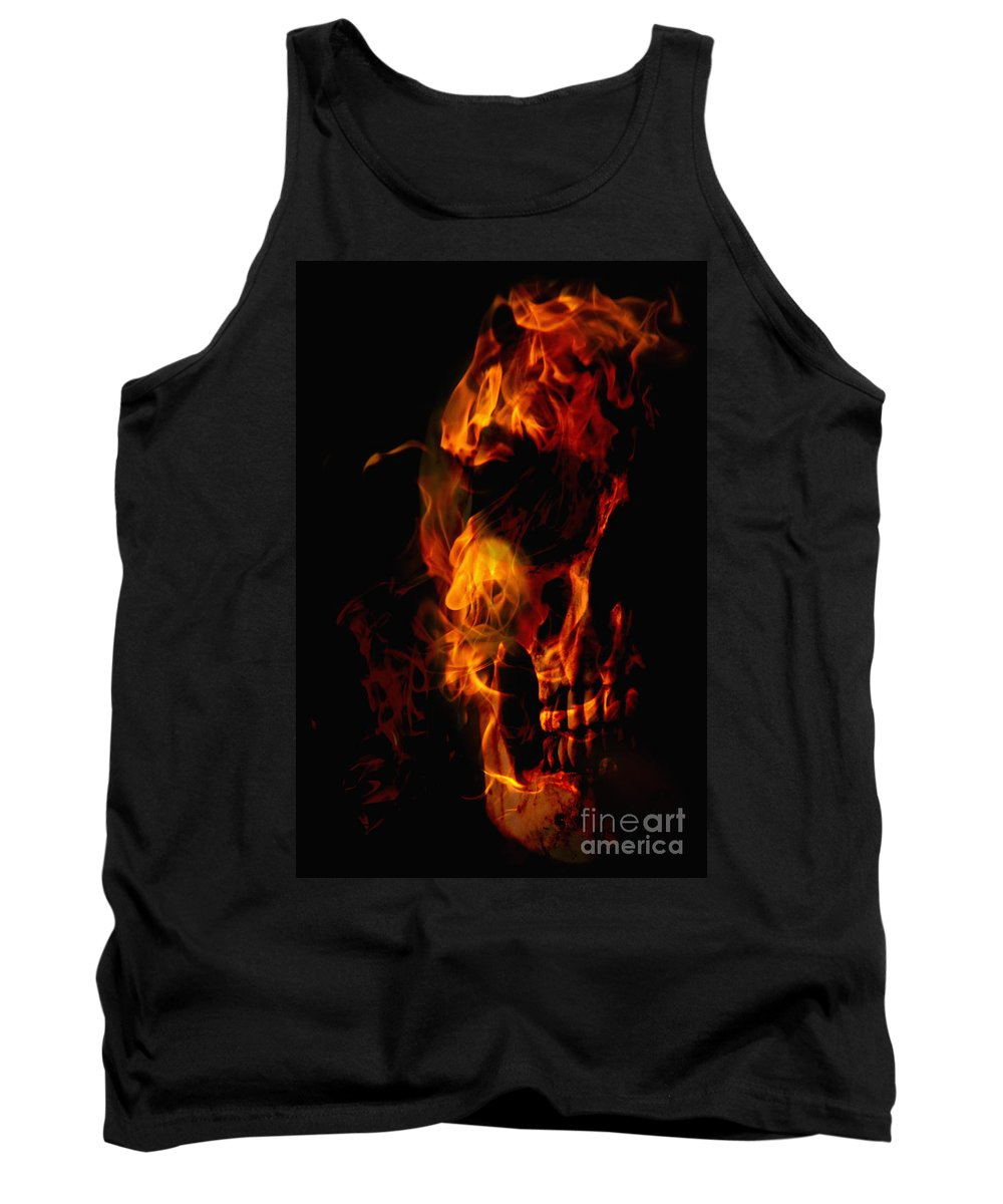 Devil Tank Top featuring the photograph Devil Within by Margie Hurwich