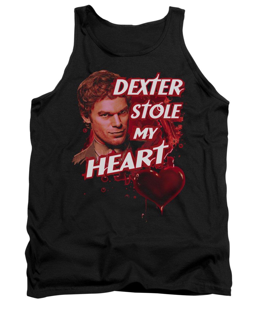 Dexter Tank Top featuring the digital art Dexter - Bloody Heart by Brand A