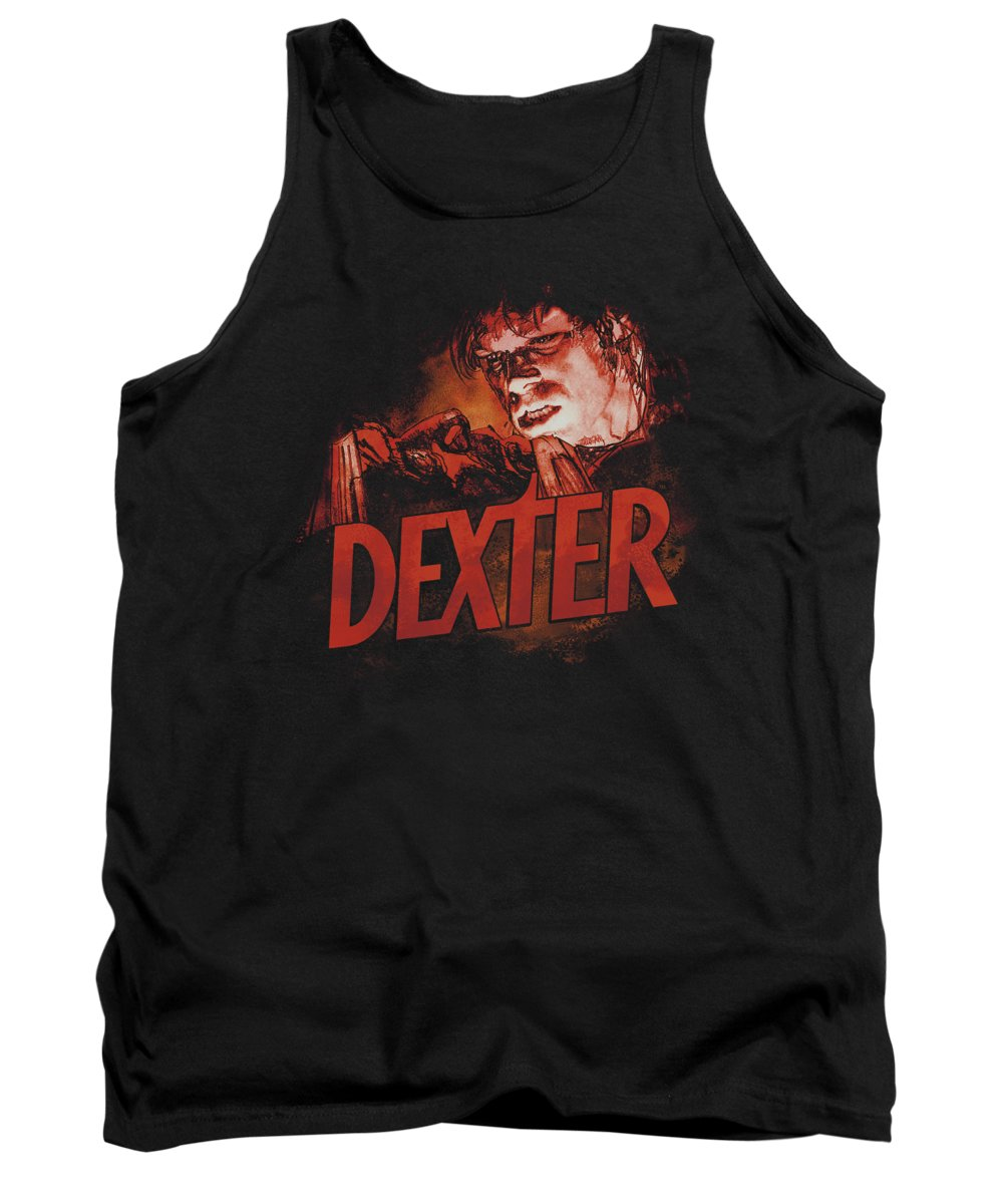 Dexter Tank Top featuring the digital art Dexter - Drawing by Brand A