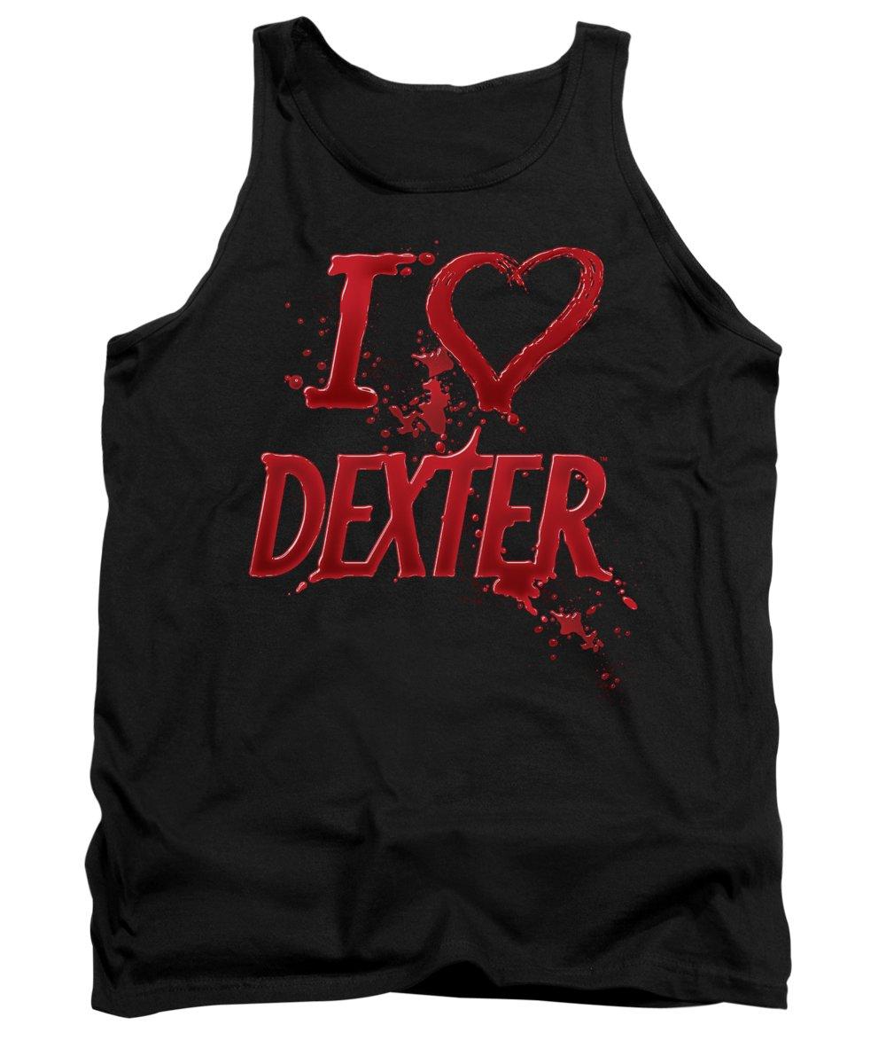 Dexter Tank Top featuring the digital art Dexter - I Heart Dexter by Brand A