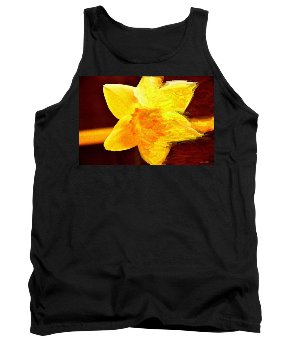 Bloom Tank Top featuring the painting Disintegration by Jeffrey Kolker