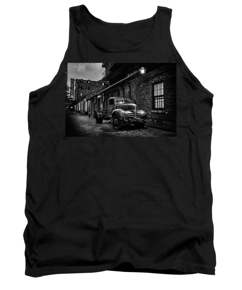 Canada Tank Top featuring the photograph Distillery District Toronto Mono by Ian Good
