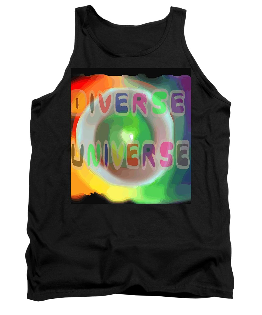 Diverse Tank Top featuring the painting Diverse Universe by Pharris Art