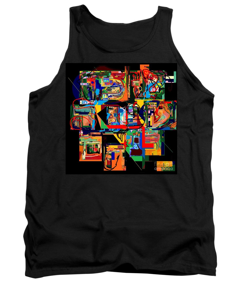 Torah Tank Top featuring the digital art Divinely Blessed Marital Harmony 23 by David Baruch Wolk