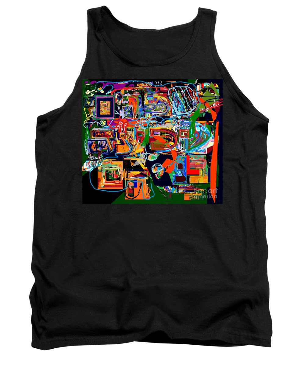 Torah Tank Top featuring the digital art Divinely Blessed Marital Harmony 26 by David Baruch Wolk