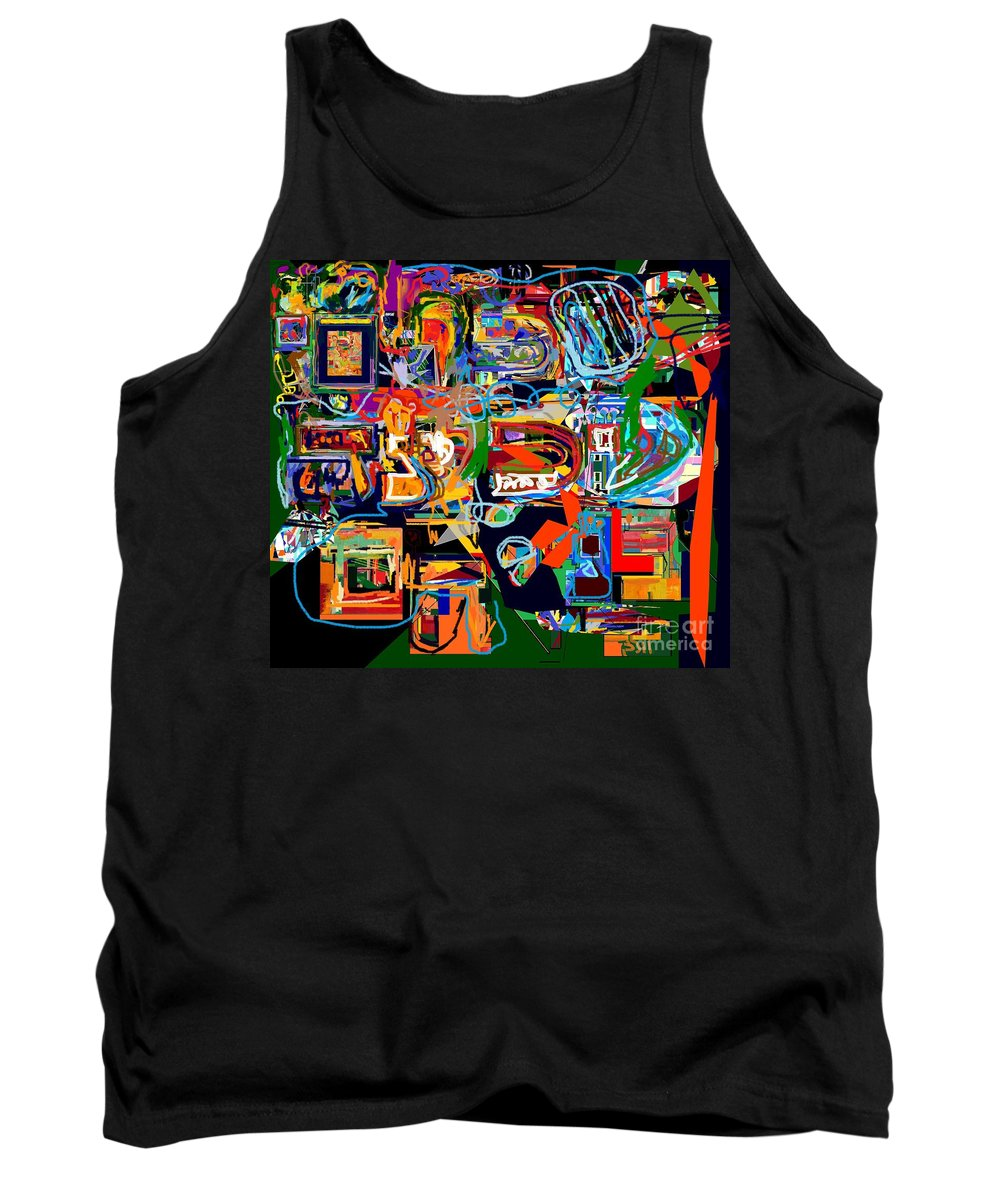 Torah Tank Top featuring the digital art Divinely Blessed Marital Harmony 28 by David Baruch Wolk