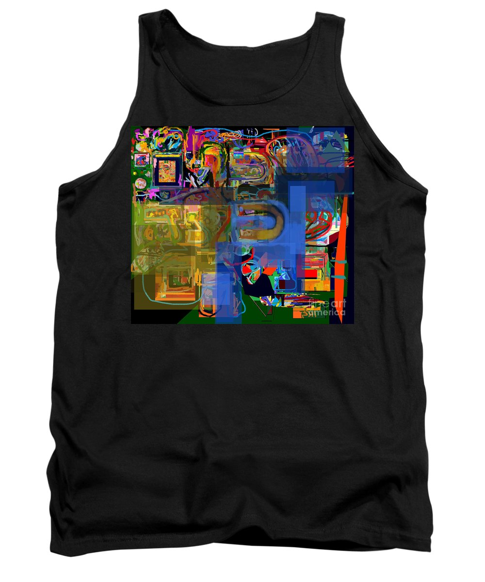 Torah Tank Top featuring the digital art Divinely Blessed Marital Harmony 30 by David Baruch Wolk